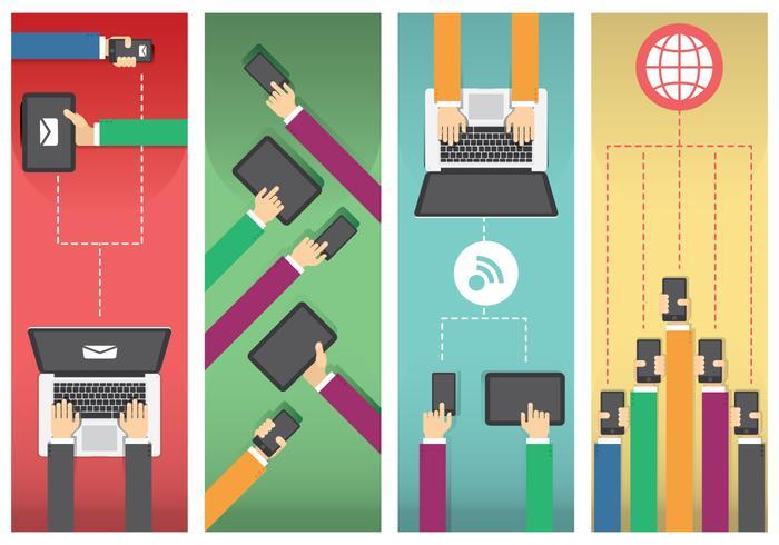 Netzwerkkommunikation vektor