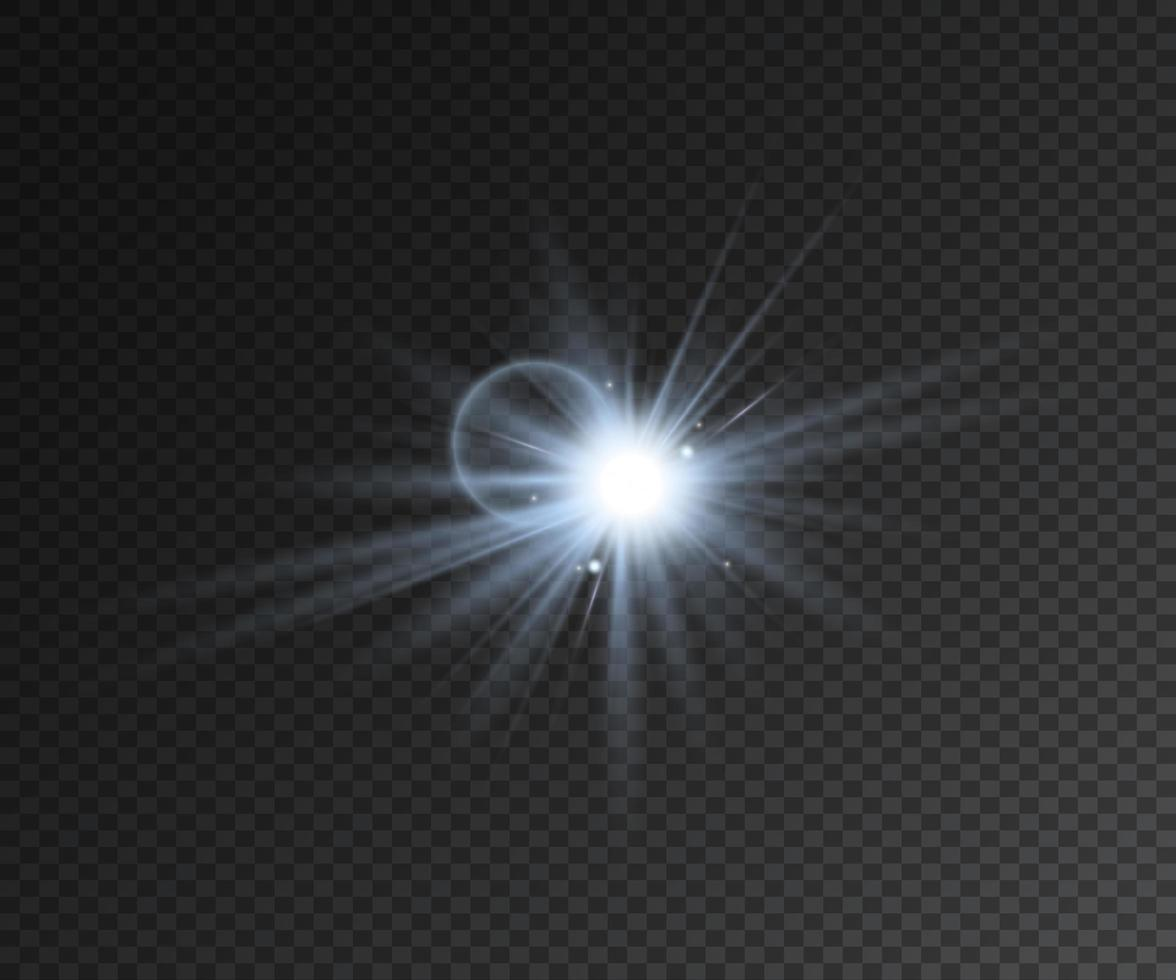 realistisk ljuseffektstjärna med gnistrar vektor