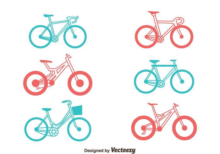 Cykelvektoruppsättning vektor