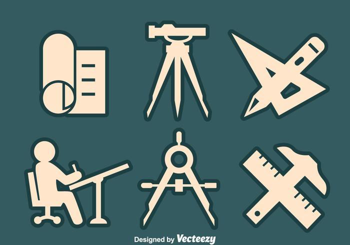 Surveyor Element Icons Vektor