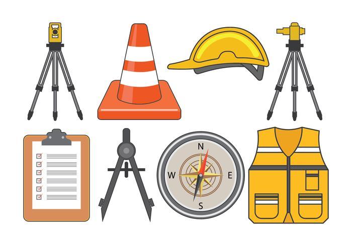 Surveyor Ausrüstung Vektor