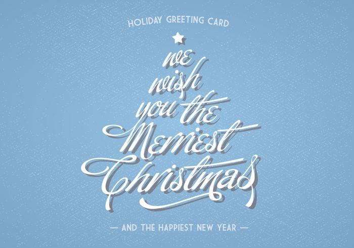 Weihnachten Lettering Holiday Grußkarte Vektor