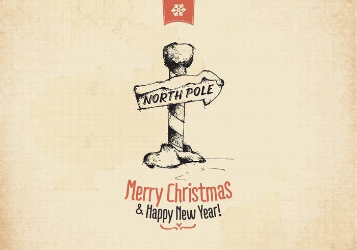 Vintage north pole vector