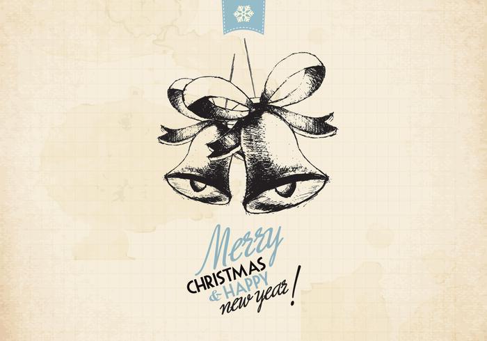 Vintage holiday jingle bells vektor