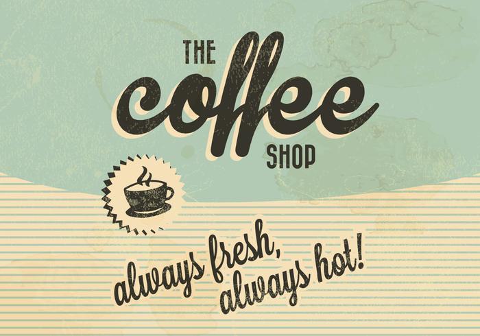 Kaffebutiken Retro Vector