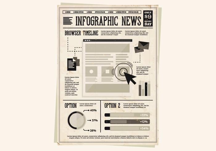 Zeitungs-Newsletter-Vektor vektor