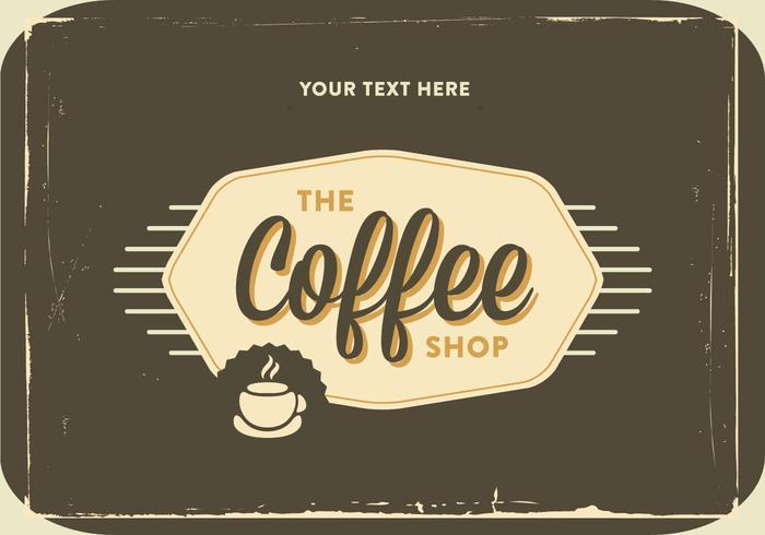 Retro Kaffebutik Logo Vektor