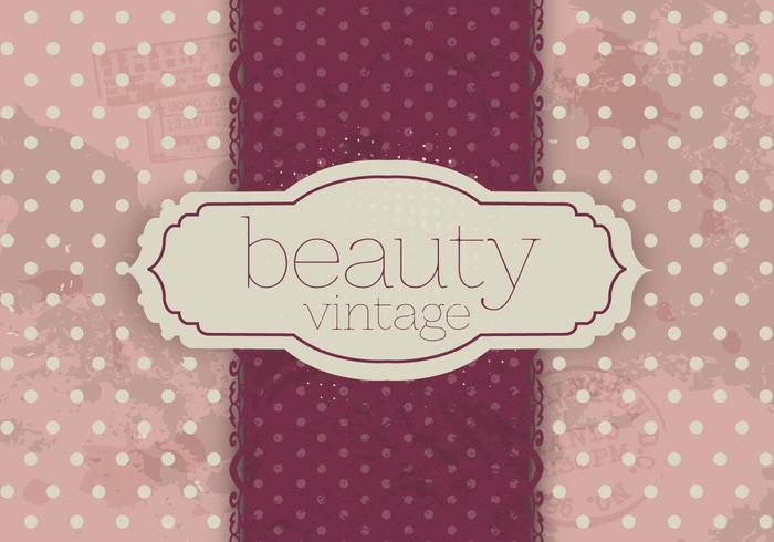 Polka Dot Vintage Skönhet Vektor