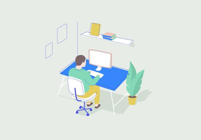 Arbeiten vektor-illustration vektor