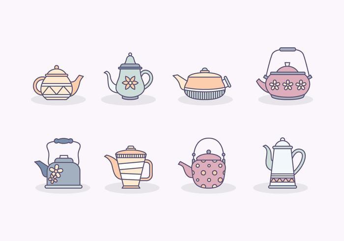 Kostenlose Teekanne Vektor