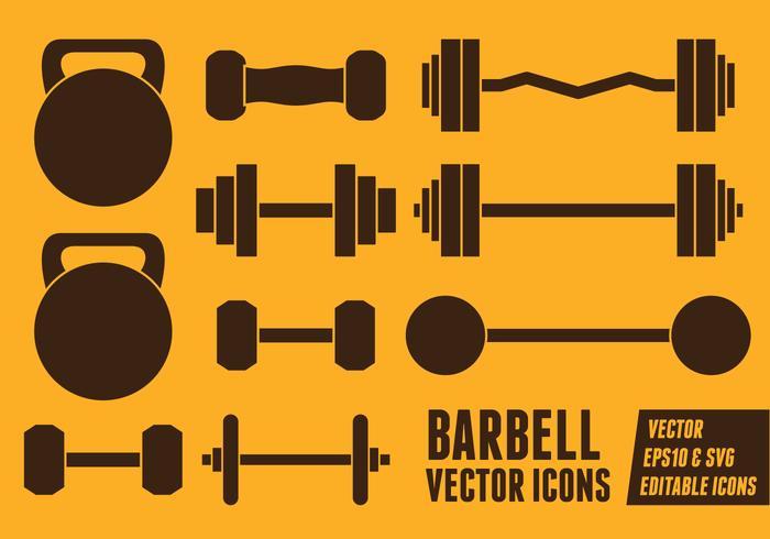 Barbell vektorikonen vektor