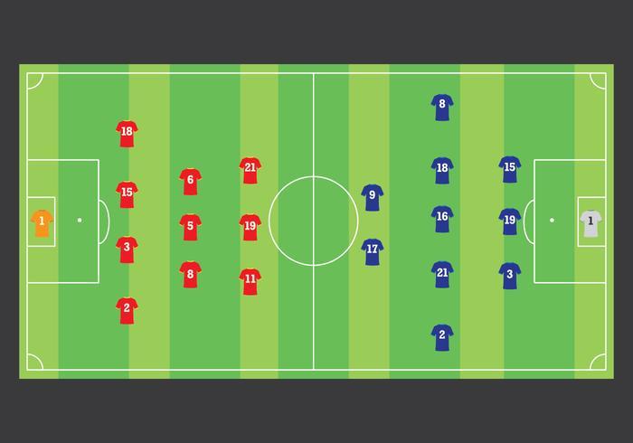 Fotbollslagstrategi vektor