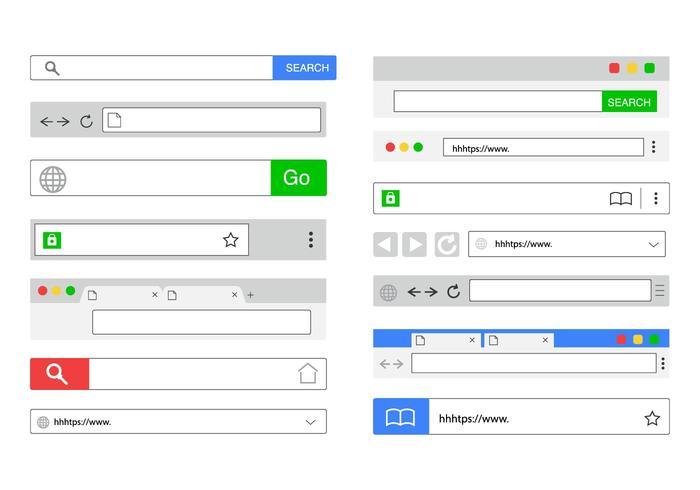 Gratis platt webbadress bar vektor