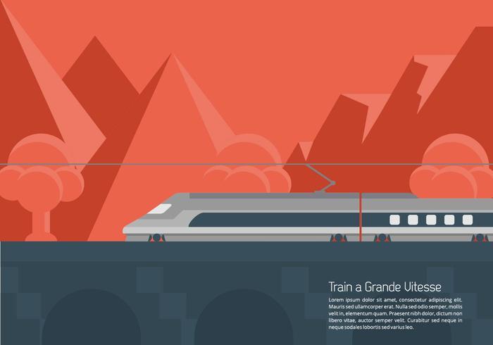 TGV Bakgrund vektor