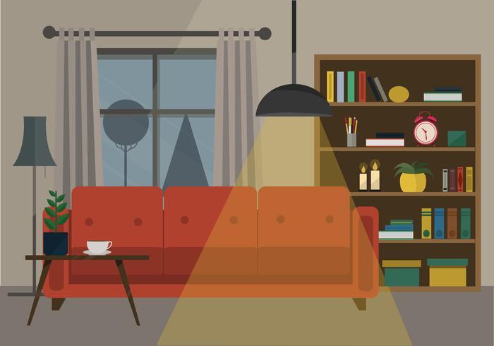 Lounge Vektor-Illustration vektor