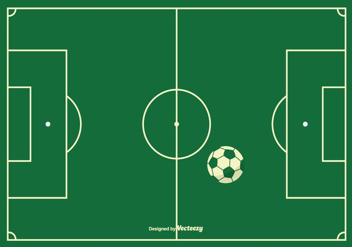 Fußballfeld Hintergrund vektor