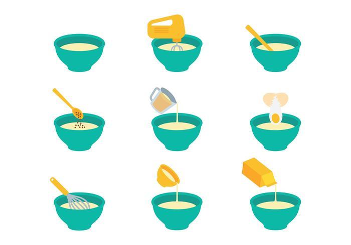 Free Mixing Bowl Icons Vektor