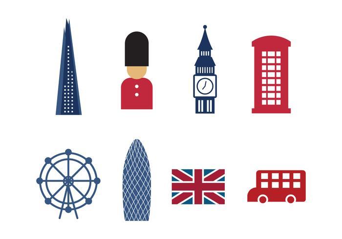 Gratis London Sevärdheter och ikoner vektor