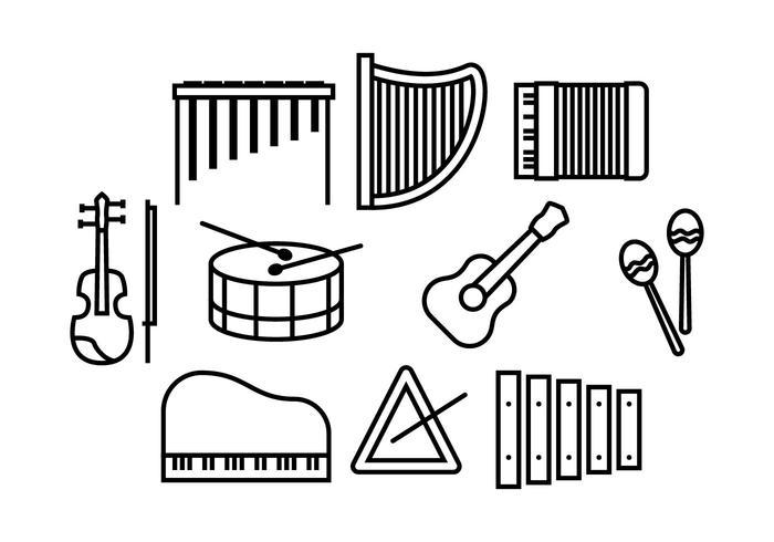 Freie Musik Vectro vektor