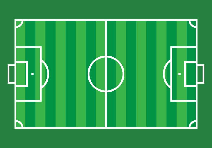 Fotbollsplanvektor vektor