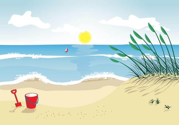 Hav havre strand vektor illustration