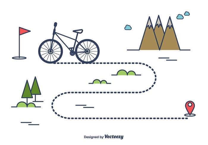 Bike Trail Vektor