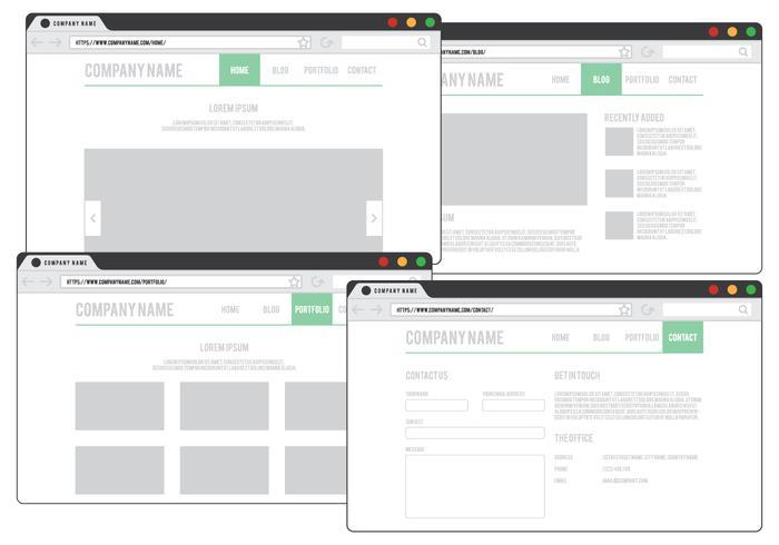 Web-Browser-Design vektor