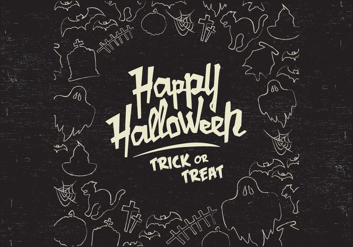 Halloween doodle vektor