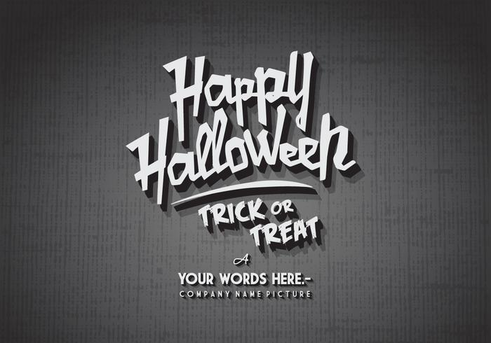 Glückliches Halloween-Kino-Vektor vektor