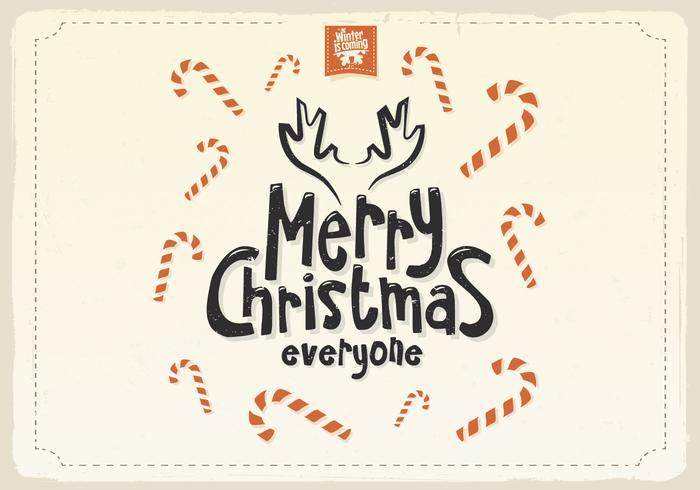 Zuckerstange überdachte Weihnachtskarte vektor