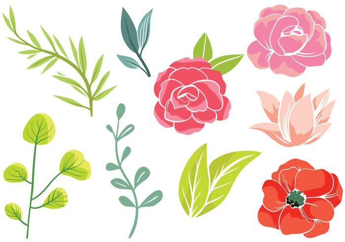 Free Simple Flowers 2 Vektoren