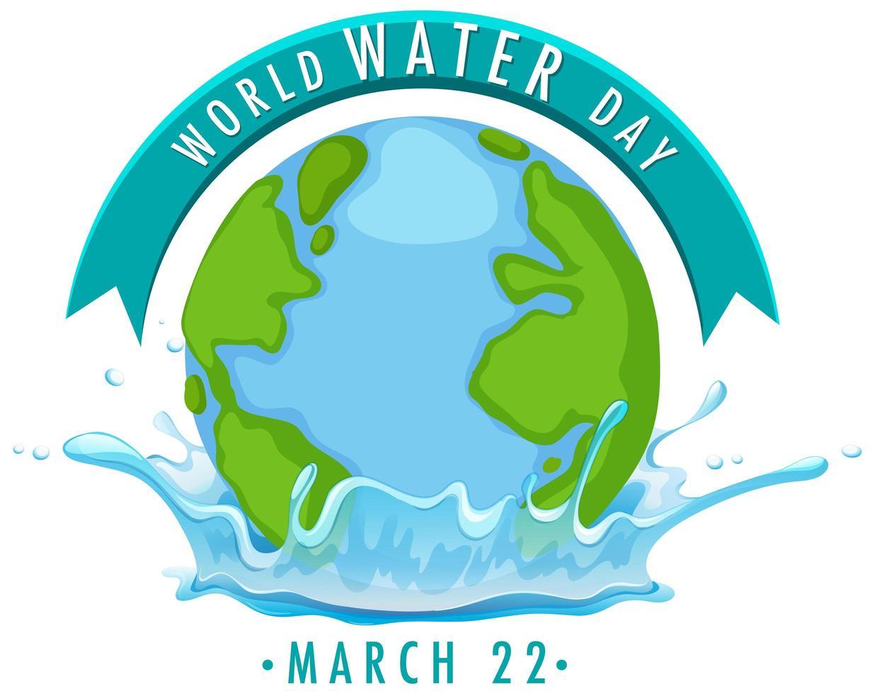 världens vattendag-ikon vektor