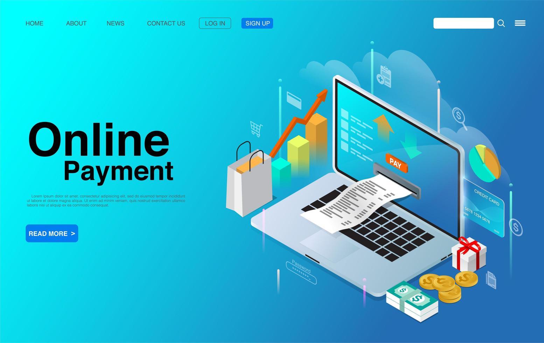 online betalning digital internetteknik vektor