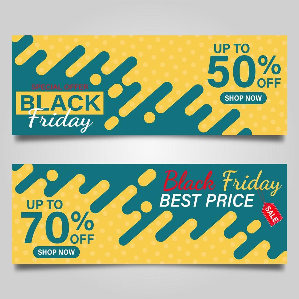 svart fredag försäljning banner set vektor
