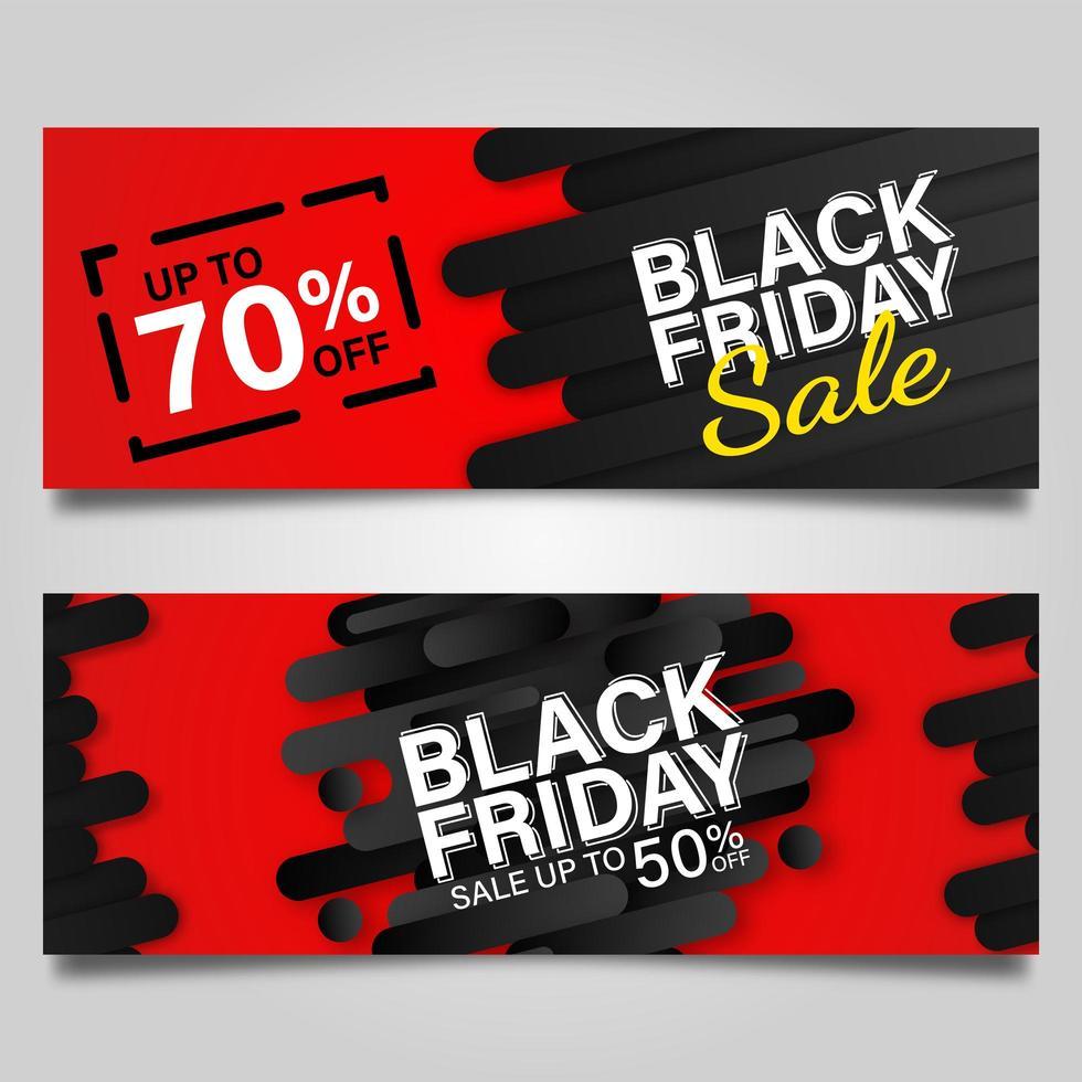 svart fredag banner design mall set vektor