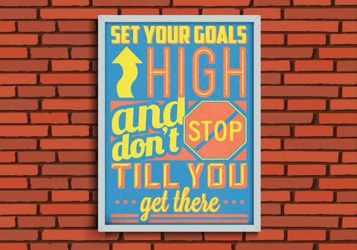 Ziele Poster Vektor