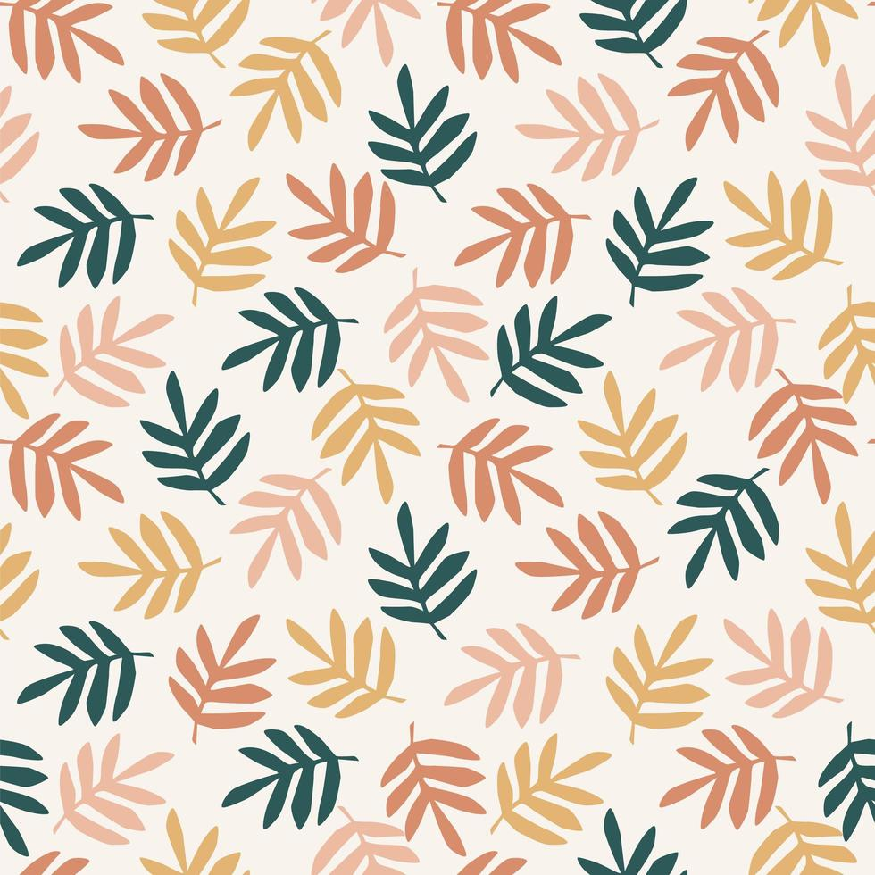 einfache Blätter nahtloses Muster vektor
