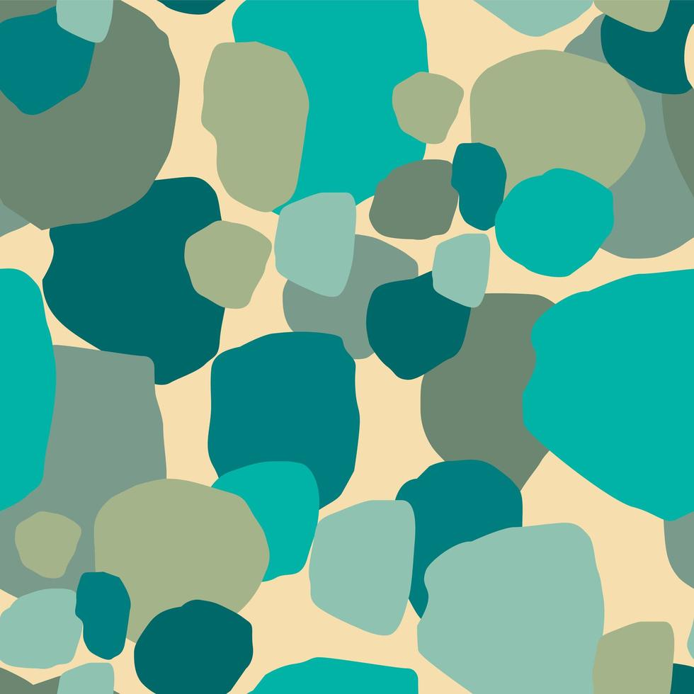 abstraktes nahtloses Muster mit grünen Flecken vektor