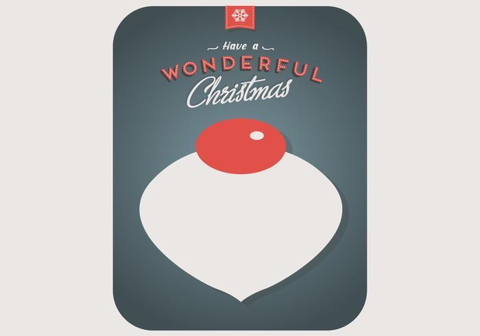 Wunderbare Weihnachtsverzierung Vektor