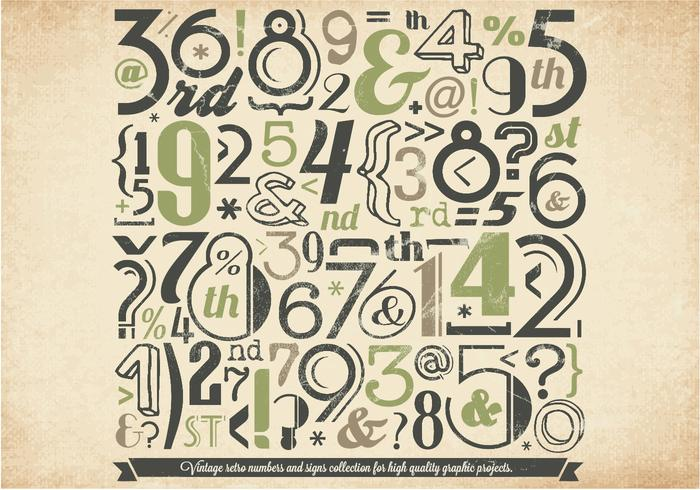 Grüne Zahlen Sammlung Vektor