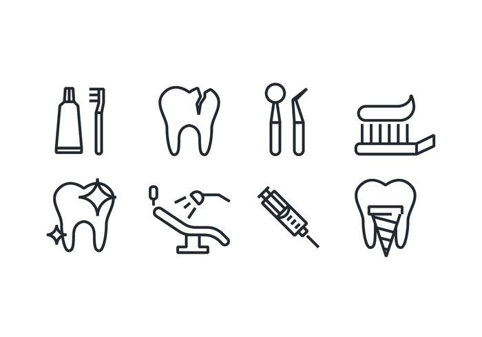 Dental Ikoner vektor