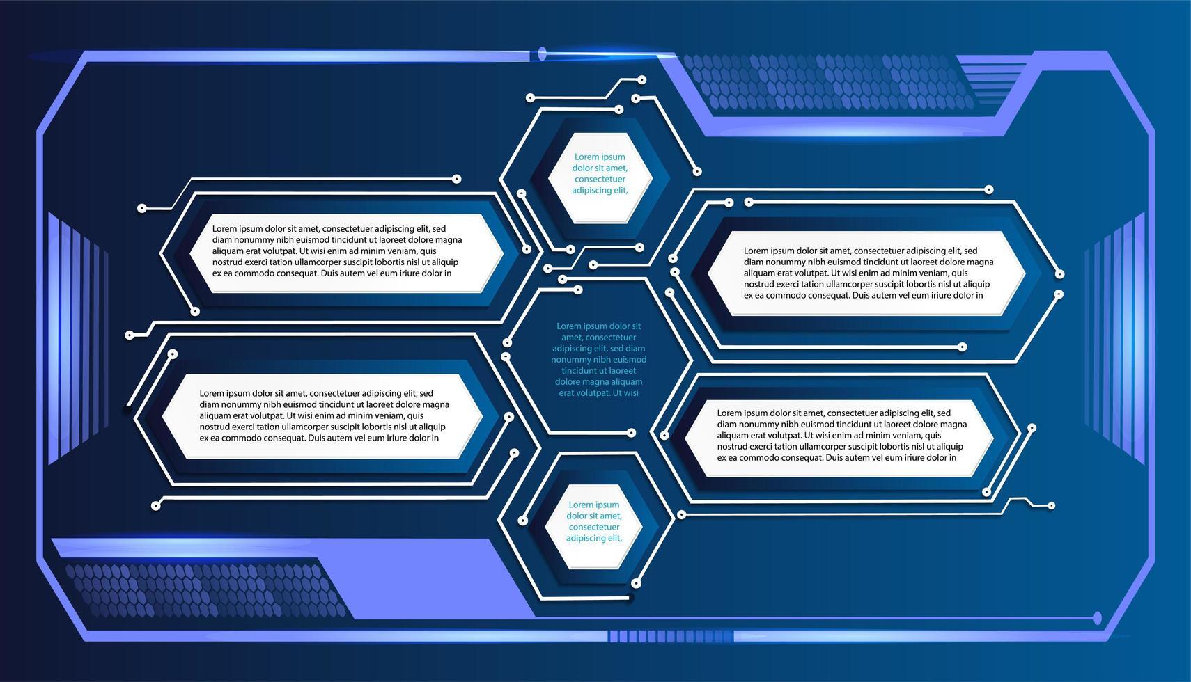 Binärplatine Zukunftstechnologie Blue Hud vektor