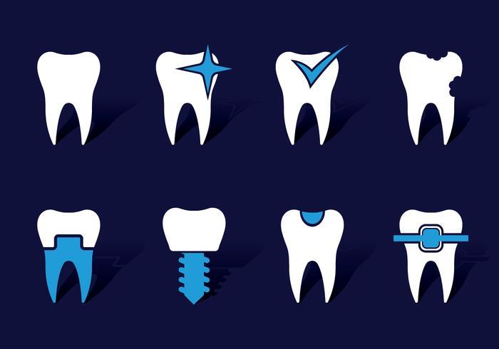 Dentista icons vektor