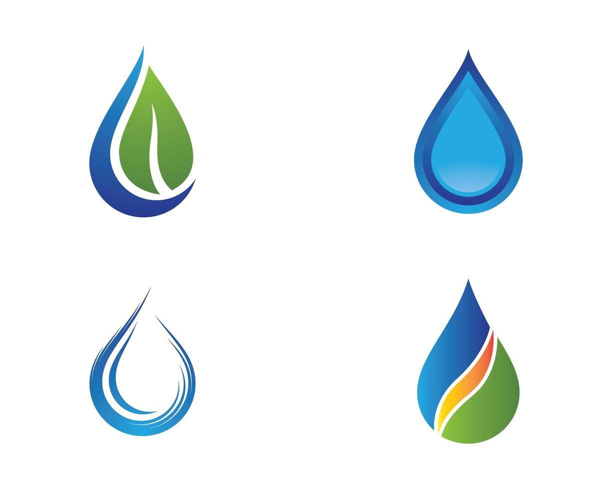 vatten droppe uppsättning vektor