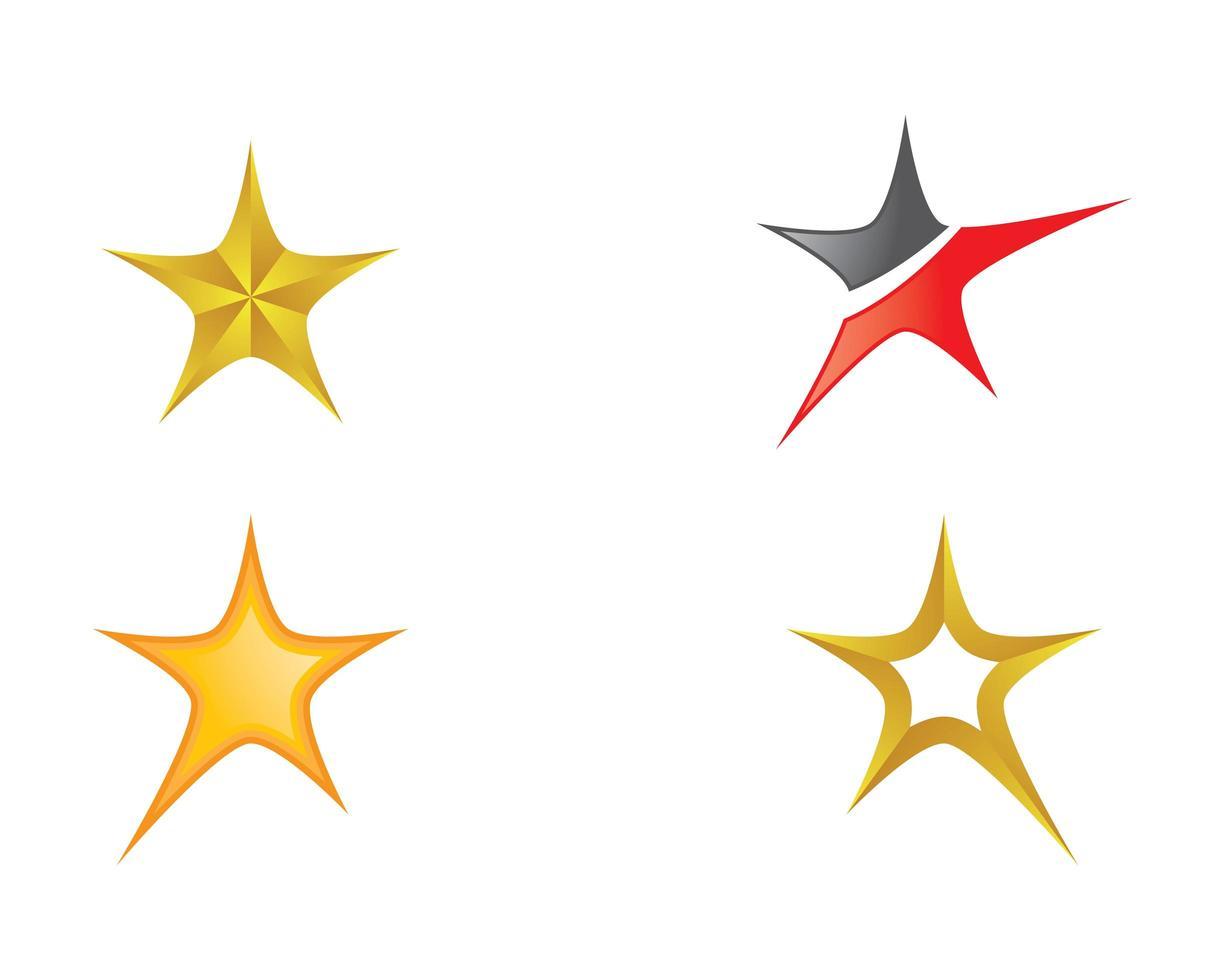 Sternsymbol gesetzt vektor