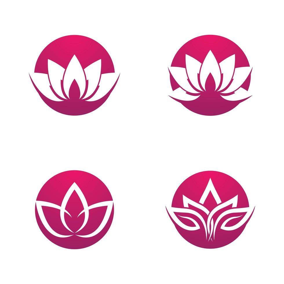 Beauty Lotus Logo Set vektor