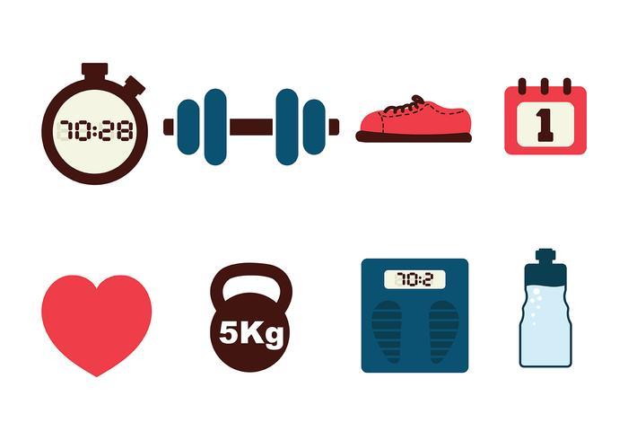 Fitness Icon Pack Vektor