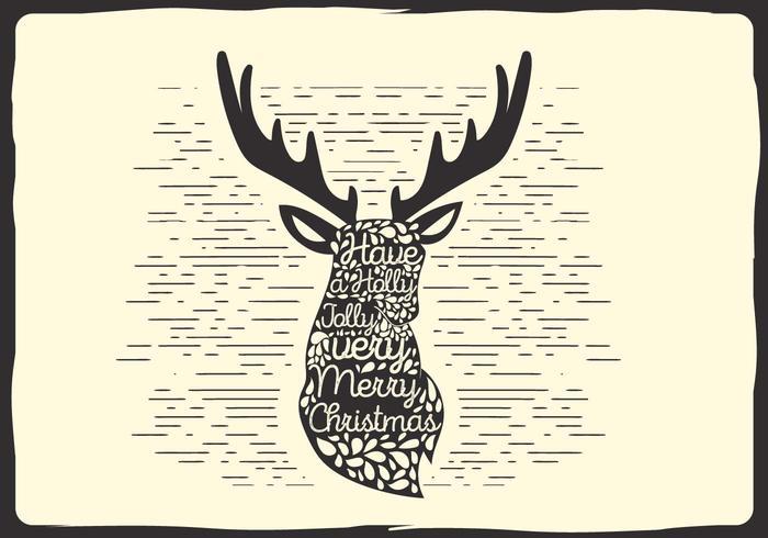 Free Christmas Vector Rentier Typografie
