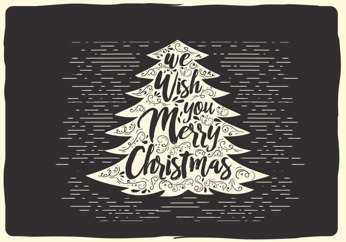 Freie Weihnachten Vektor-Typografie vektor