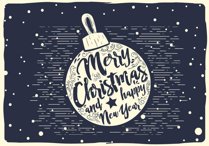 Free Christmas Vector Ball Typografie